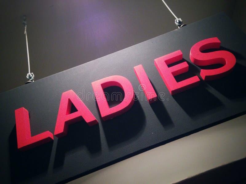 Signe de dames image stock