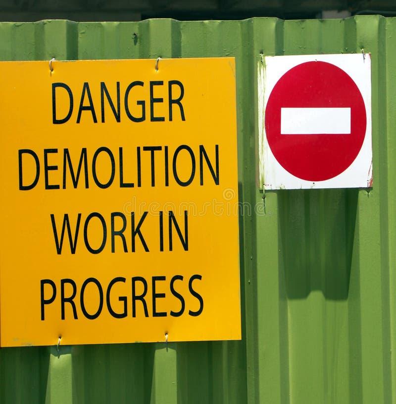 Signe de danger images stock