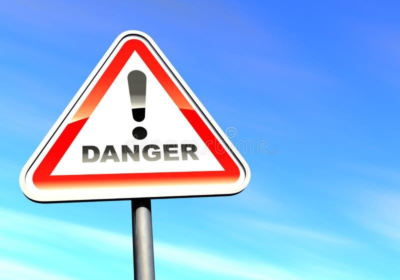 signe de danger illustration stock