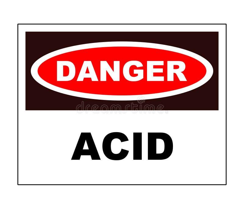 Signe de danger - acide illustration libre de droits
