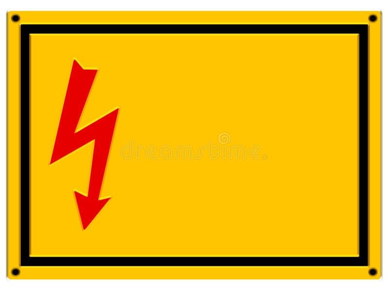 Signe de danger - allégement illustration stock