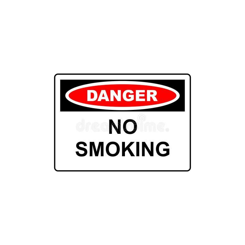 signe de danger de vecteur non-fumeurs illustration de vecteur