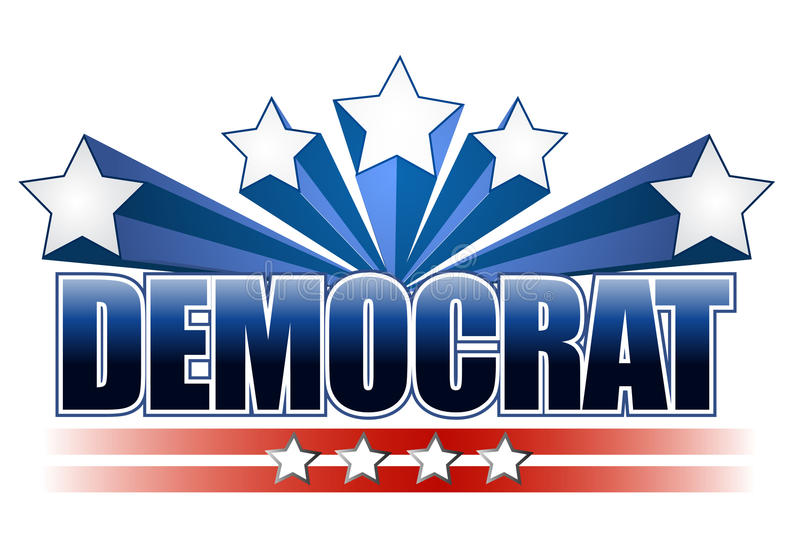 Signe de Democrat illustration stock