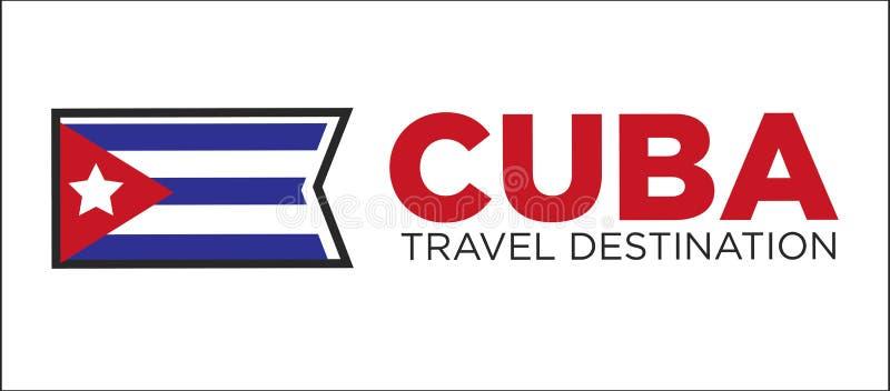 Signe de destination de voyage du Cuba illustration libre de droits