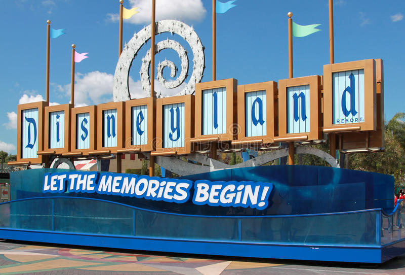 Signe de Disneyland image stock