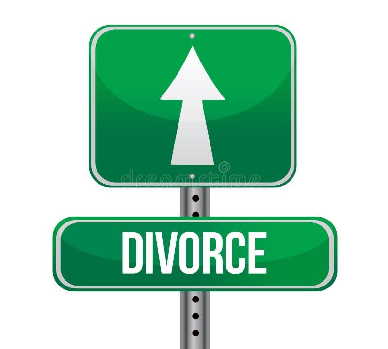 Signe de divorce illustration libre de droits