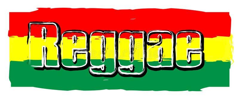 Signe de drapeau de reggae image libre de droits