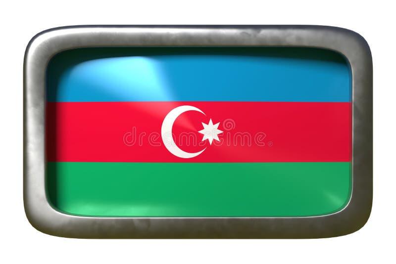 Signe de drapeau de l'Azerbaïdjan illustration stock