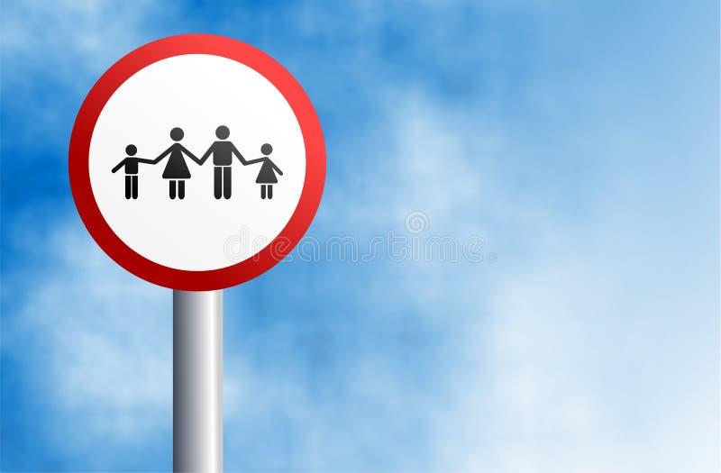 Signe de famille illustration de vecteur