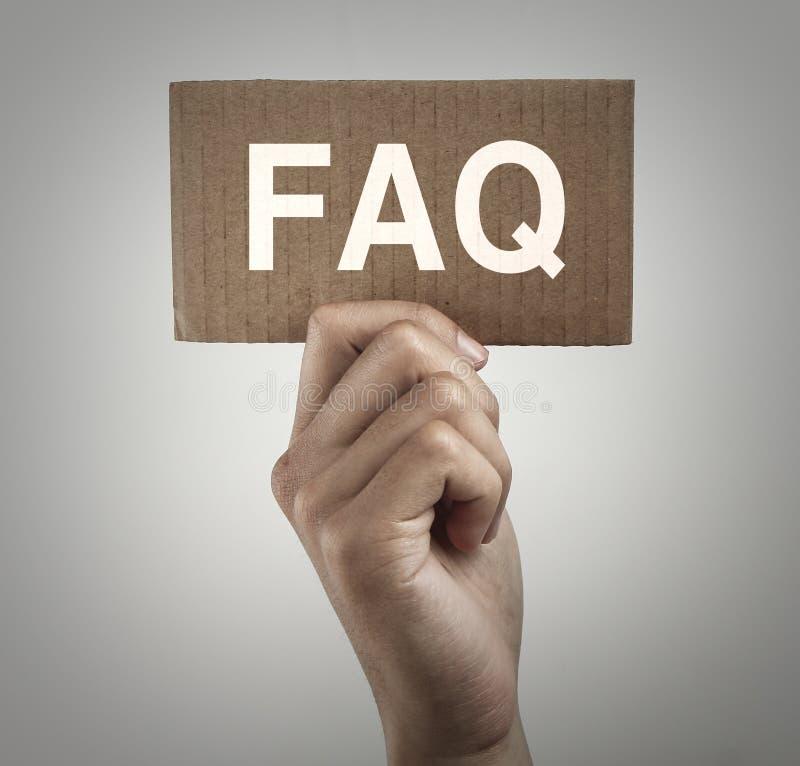 Signe de FAQ photos libres de droits