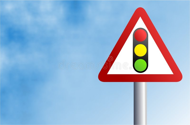 Signe de feu de signalisation illustration stock