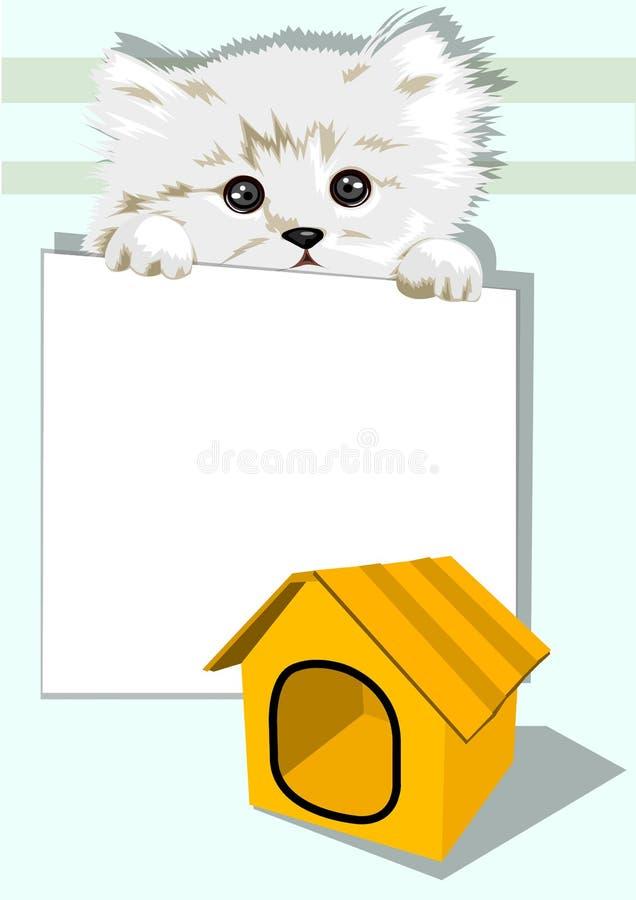 Signe de fixation de chat photographie stock