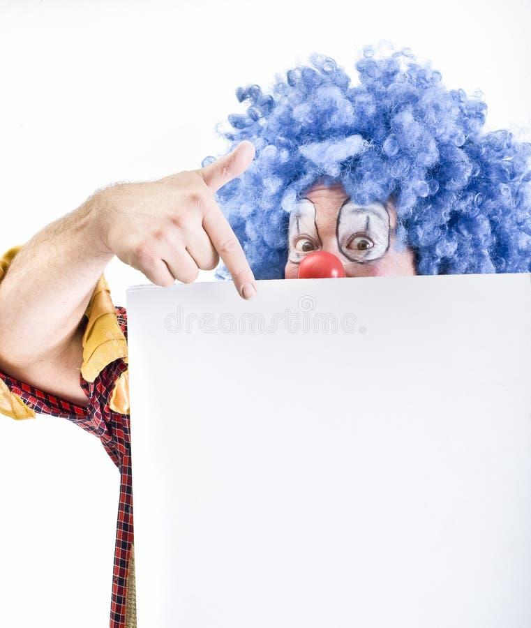 Signe de fixation de clown photos stock