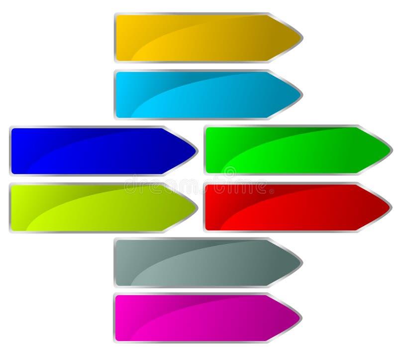 Signe de flèche illustration stock