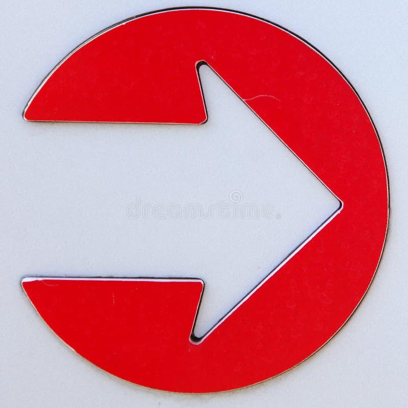 Signe de flèche en métal images libres de droits