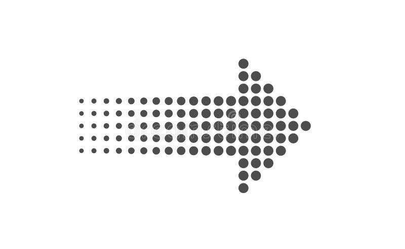 Signe de flèche de pixel illustration de vecteur