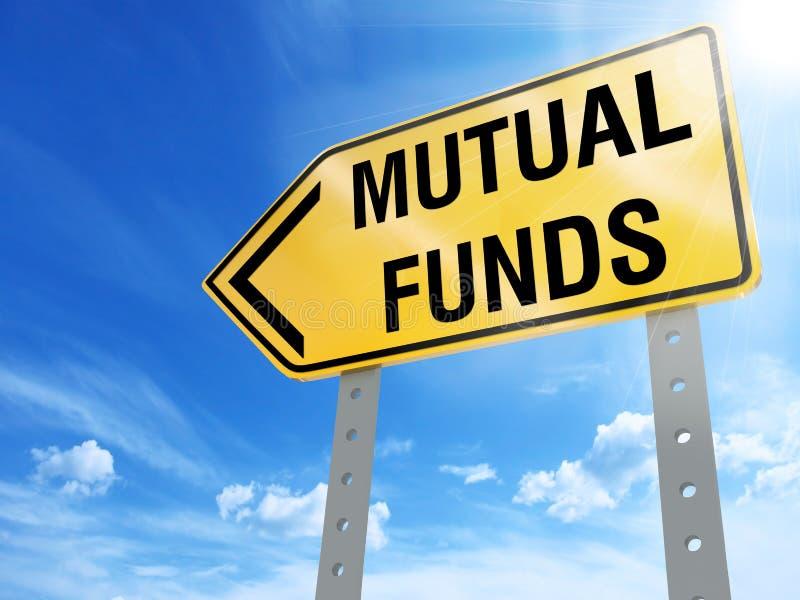 Signe de fonds communs de placement mutualistes illustration libre de droits