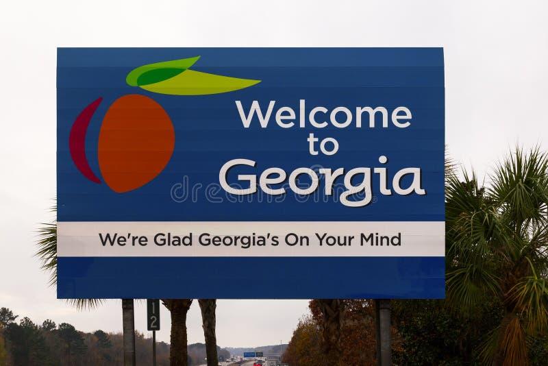 Signe de Georgia Welcome photos libres de droits