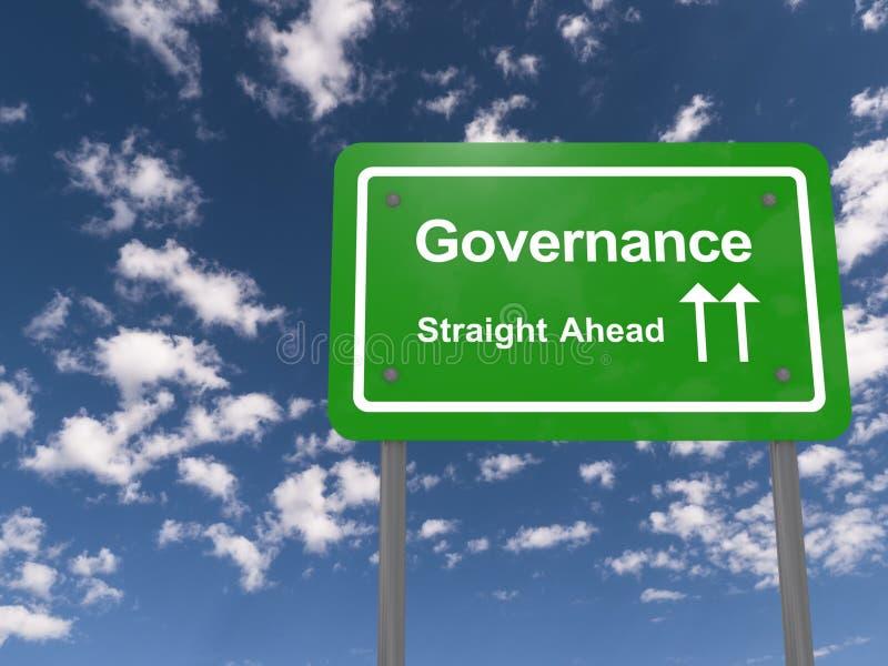 Signe de gouvernement en avant photo libre de droits