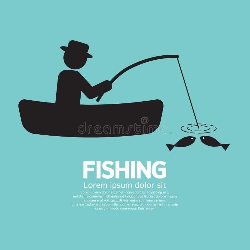 Signe de graphique de pêche illustration libre de droits