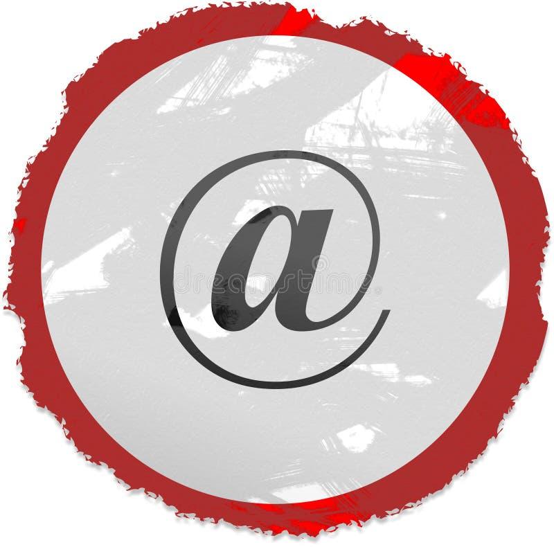signe de grunge d'email illustration stock