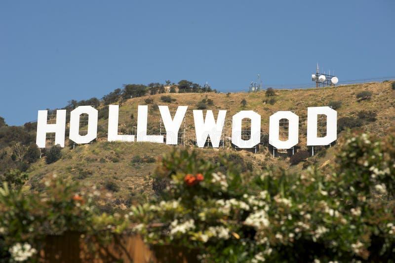 Signe de Hollywood image libre de droits