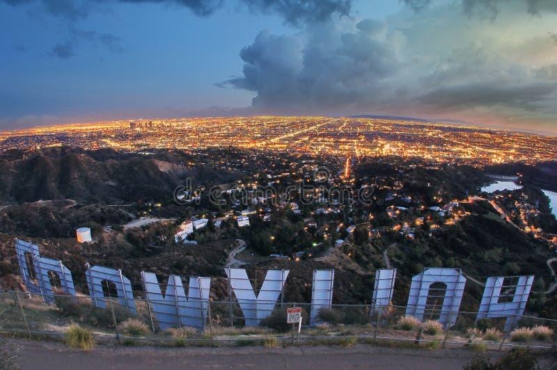 Signe de Hollywood photo libre de droits