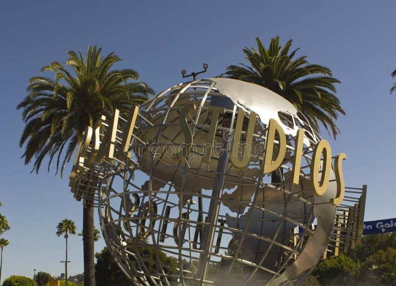 Signe de Hollywood de studios universels photos libres de droits