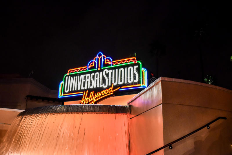 Signe de Hollywood de studios universels image stock