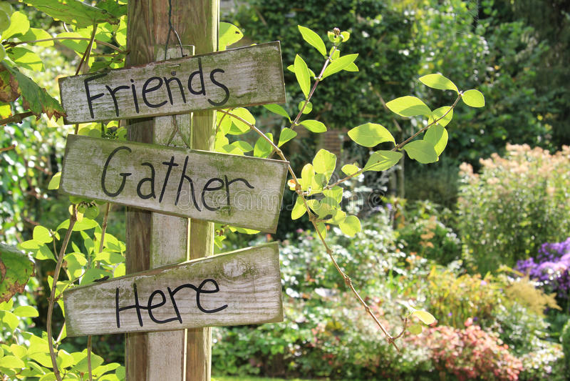 Signe de jardin. photos stock