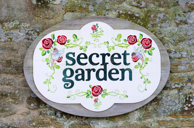 Signe de jardin secret illustration stock