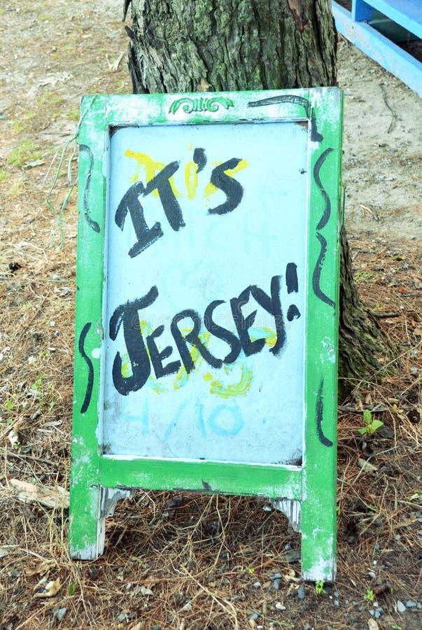 Signe de Jersey image stock