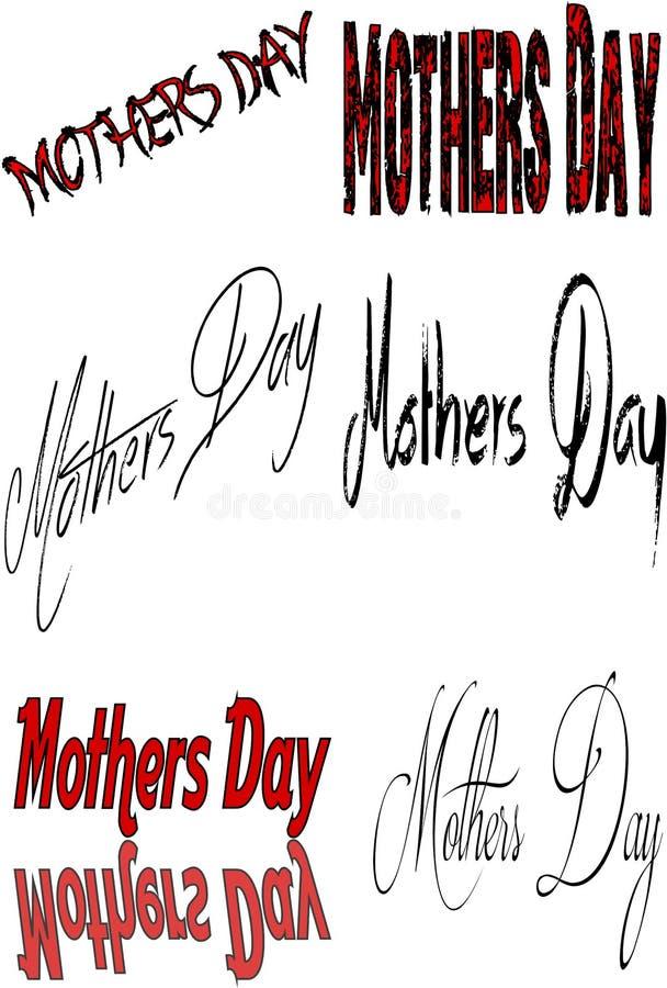 Signe de jour de mères illustration libre de droits