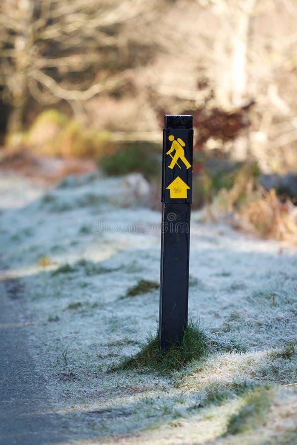 Signe de journal de promenade photographie stock libre de droits