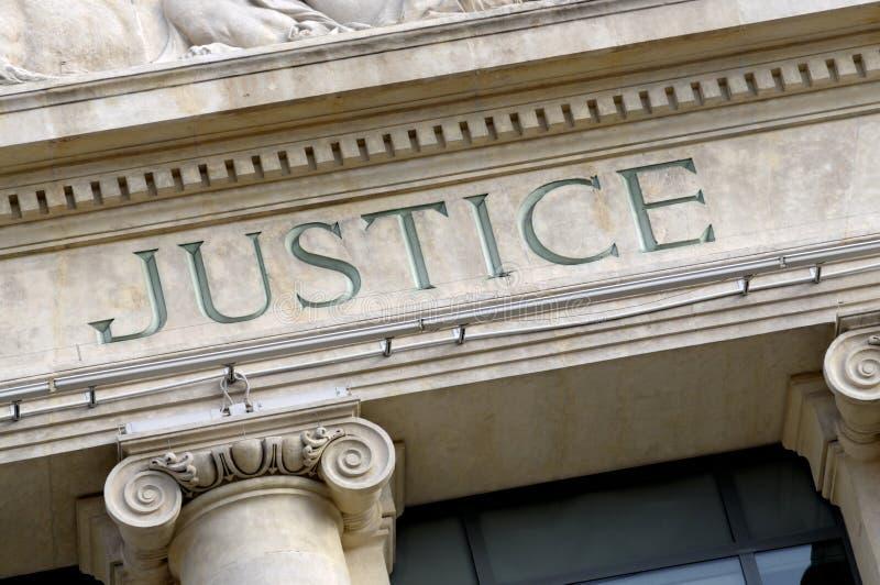 Signe de justice image stock