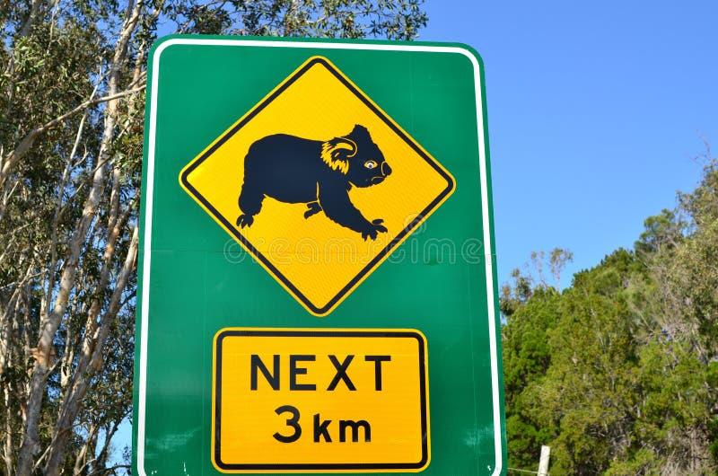 Signe de koala photo stock