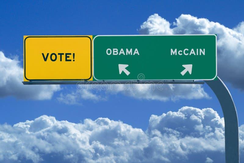 Signe de l'élection 2008 présidentielle - voix images stock