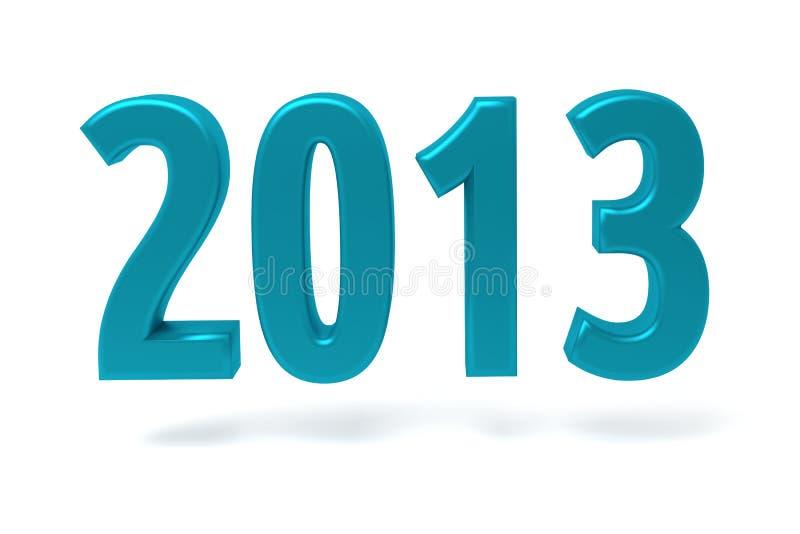 Signe de l'an 2013 neuf illustration de vecteur