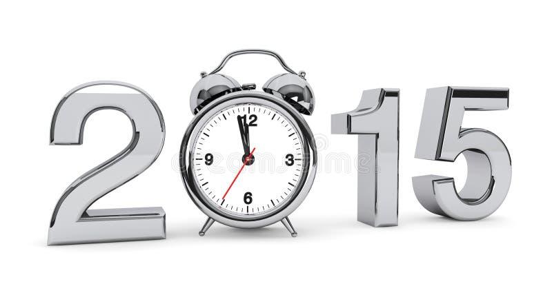 signe de l'acier 2015 avec le réveil illustration de vecteur