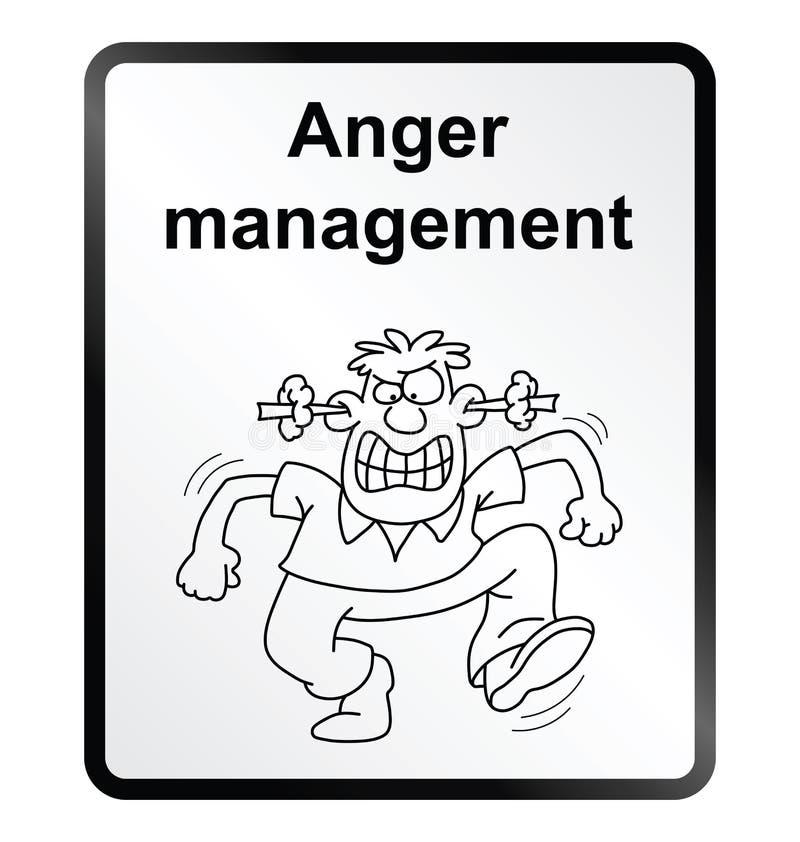 Signe de l'information de gestion de colère illustration de vecteur