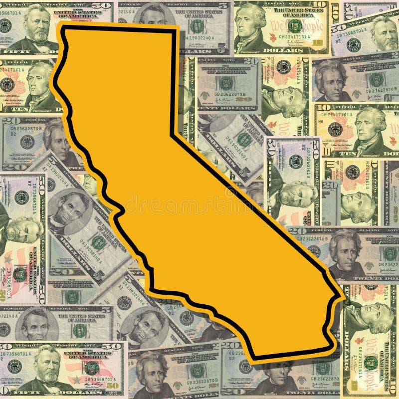 Signe de la Californie avec des dollars illustration libre de droits