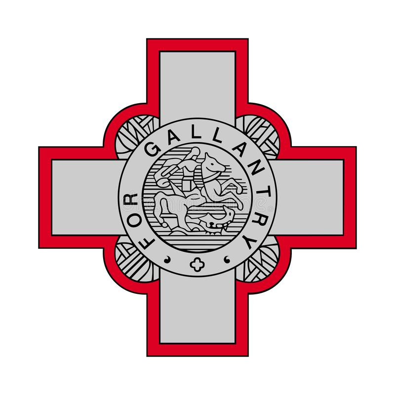 Signe de la croix britannique de George illustration libre de droits