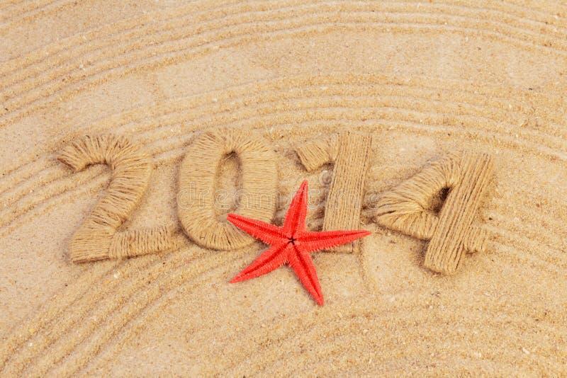 Signe de la nouvelle année 2014 photographie stock