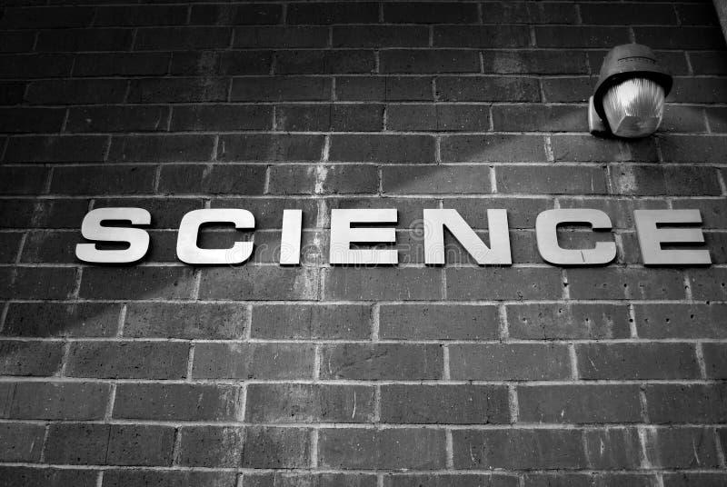 Signe de la Science photo libre de droits