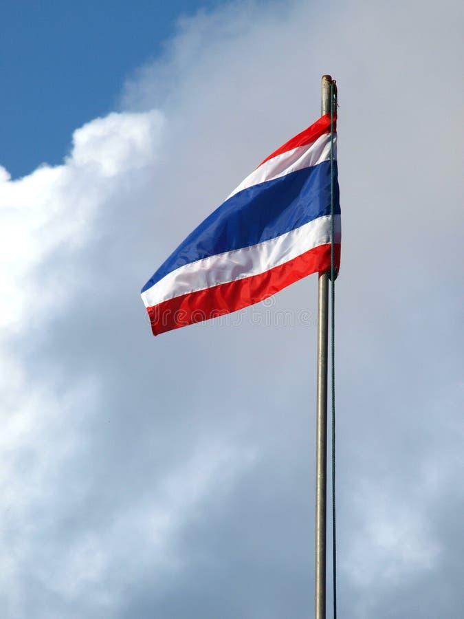 Signe de la Thaïlande avec le fond bleu photo libre de droits
