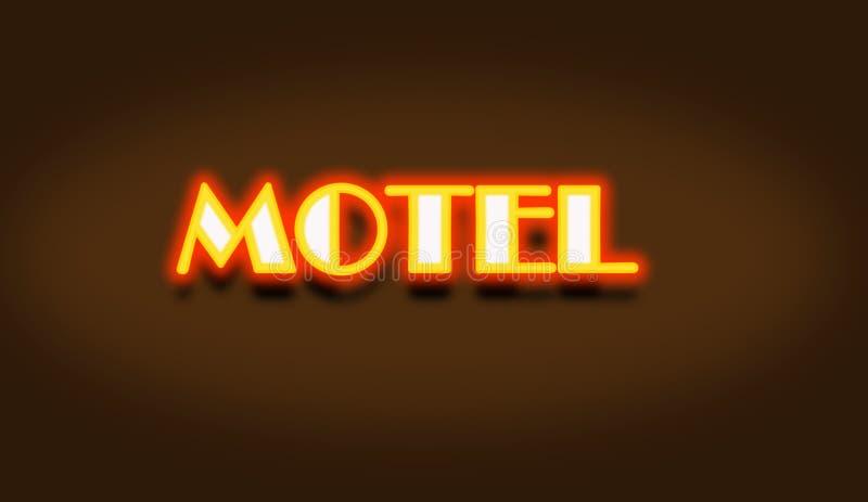 Signe de lampe au néon de motel photographie stock libre de droits