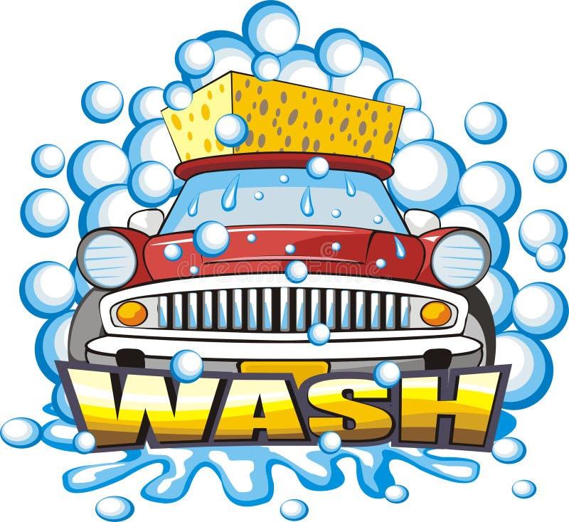 Signe de lavage de véhicule illustration libre de droits