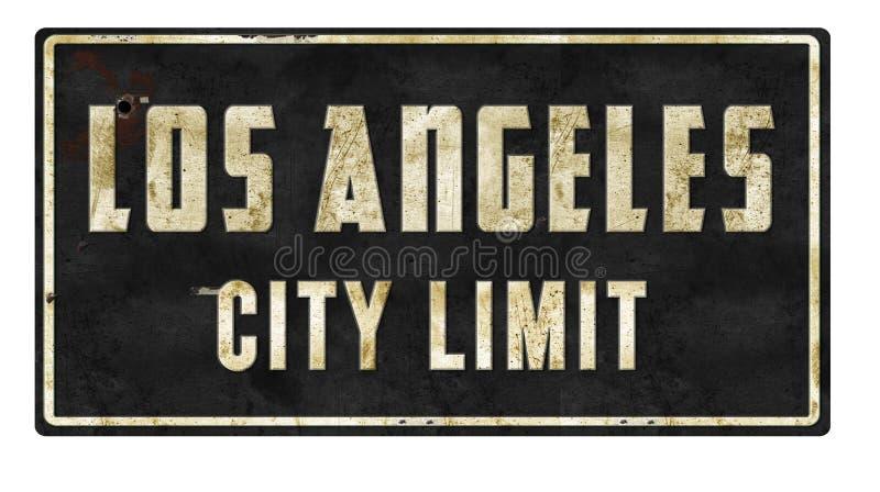 Signe de limite de ville de Los Angeles rétro image stock