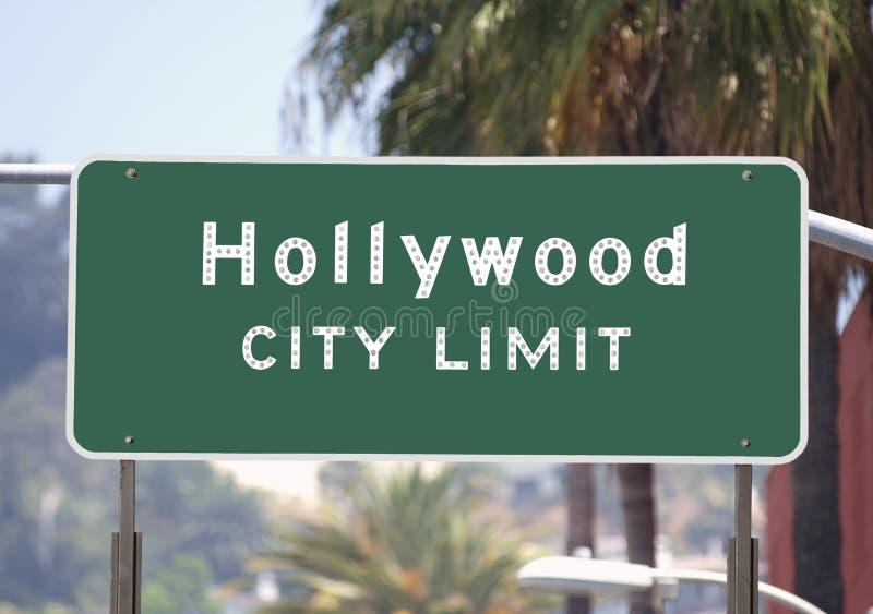 Signe de limites de ville de Hollywood images libres de droits