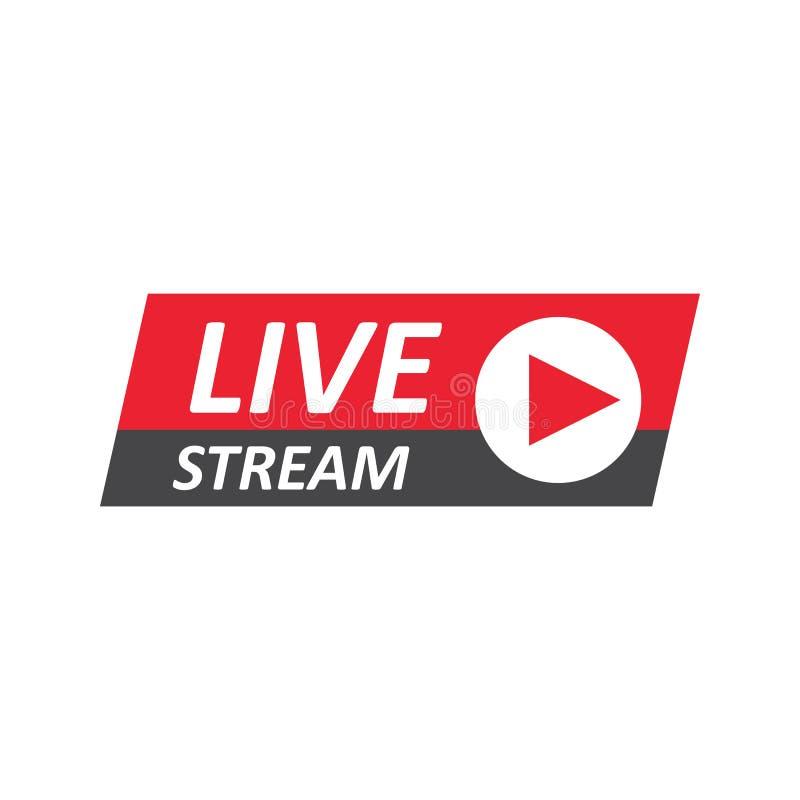 Signe de Live Stream, emblème, logo illustration libre de droits